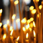 Candles in French Cathedral ca. 1980s-1990s France