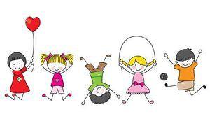 Bilderesultat for tegning av barn som leker